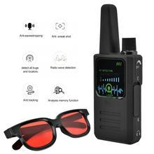 Novo m003 multi função anti espionagem anti rastreamento câmera sem fio detector de sinal com óculos detector de sinal