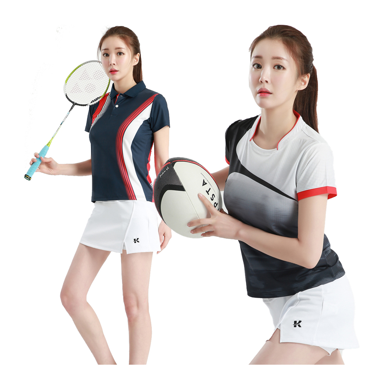 Women Badminton Shirts Female Table Tennis T Running Sport Sport Quick Dry Breathable Top Game Running Training T Shirts