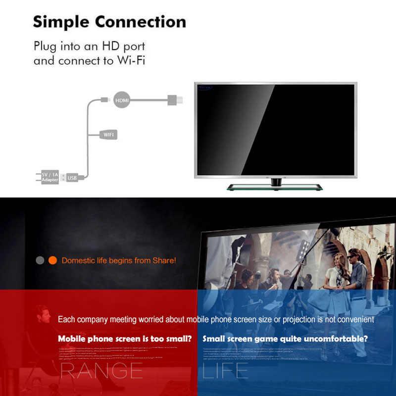 Mirascreen G2A TV Stick Dongle Nirkabel 1080P HD dengan Miracast Display Receiver Airplay DLNA untuk Android IOS Chormecast