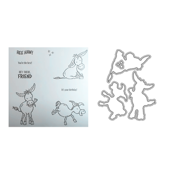 Stamps and Dies 2020 New Arrivals Metal Cutting Dies Scrapbooking For Paper Making Little Donkey Embossing Frame Card Set