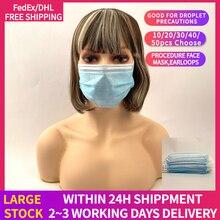 DHL/Fedex Freies Verschiffen Anti-virus Atemschutz Einweg Gesicht Maske 3 Schicht Atmungsaktive Ohrbügel Mund Masken Für Haar salon Verwenden