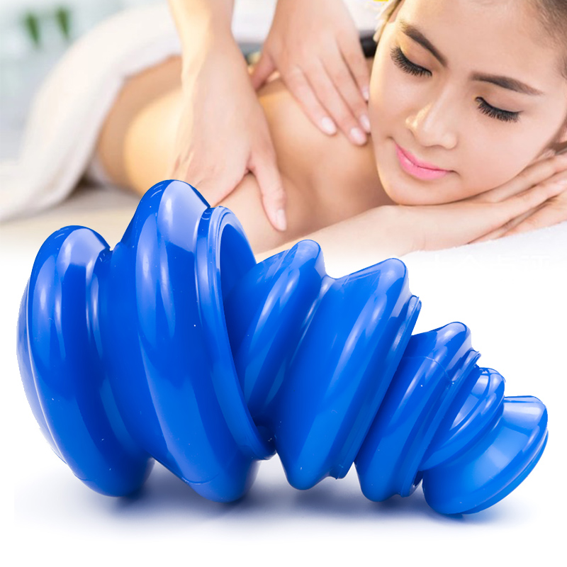 Vacuum Cans Massage Silicone Cupping Moisture Absorber Ventouse Anti Cellulite Physical Therapy Health Care Blue Device 4 Pcs