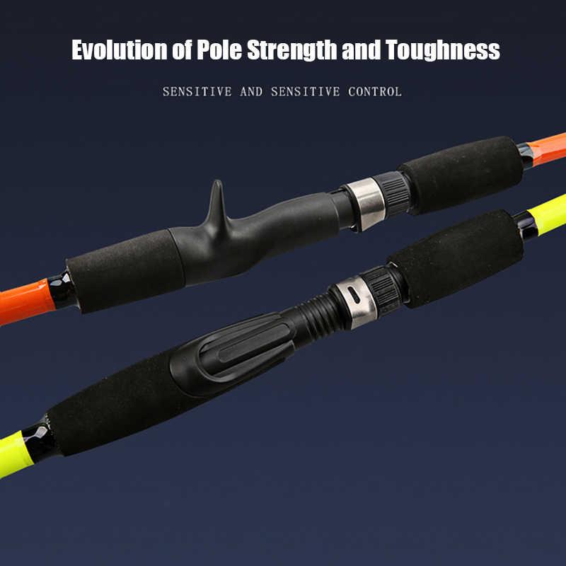 سبين الصيد قضيب الطعم إغراء الصب معالجة الفيبرجلاس البحر الصعب قصبة صيد خشبية SMN88