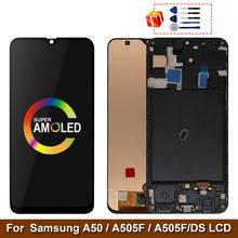 Super AMOLED do Samsung Galaxy A50 SM-A505FN DS A505F DS A505 wyświetlacz LCD z ekranem dotykowym Digitizer z ramką do Samsung A50 lcd tanie tanio MSMADE NONE CN (pochodzenie) Pojemnościowy ekran 3 For Samsung Galaxy A50 SM-A505FN DS A505F DS A50 LCD i ekran dotykowy Digitizer