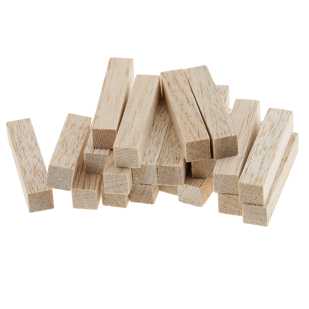 4 Sizes Natural Square Wood Stick Wooden Dowel For Model Making Hobbies Craft