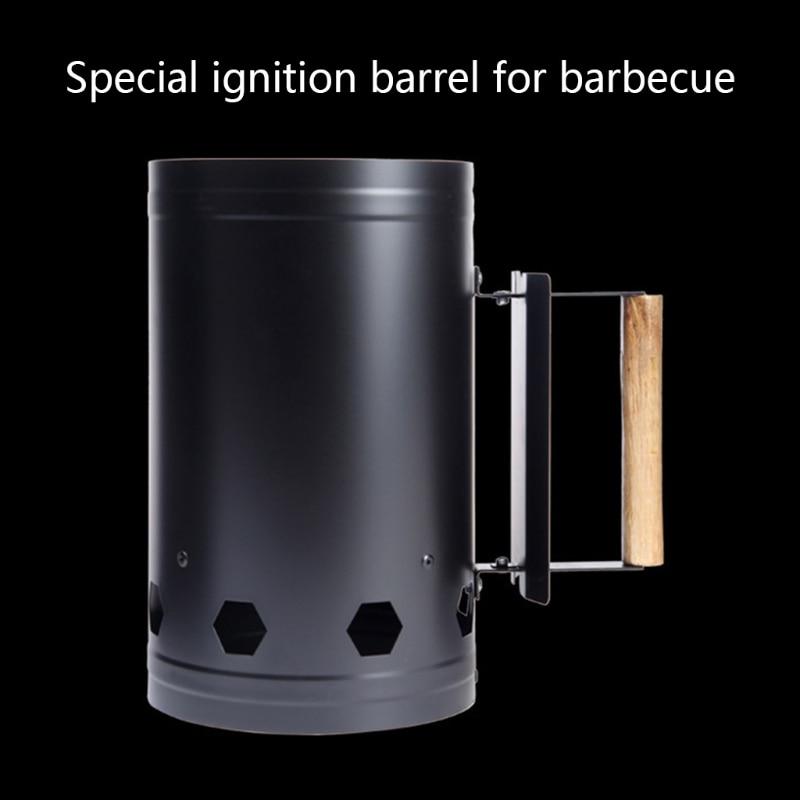 Быстро поджигатель ведро Нержавеющаясталь зажигания древесный уголь ствол на открытом воздухе Кухня барбекю углерода ствол зажигания дл...