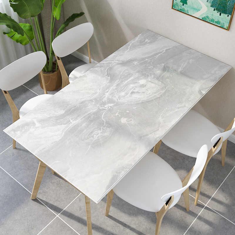 PVC mantel vidrio suave resistente al agua y al aceite de plástico transparente de comedor mesa de comedor con cocina moderna cubierta