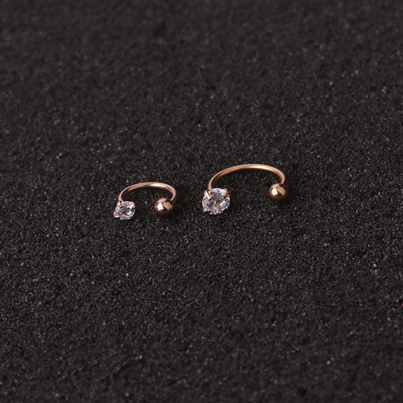 Imixlot 1pc 20G Stainless Steel Cz Hoop Tragus Cartilage Helix Earring Conch Rook Daith Lobe Ear Piercing Jewelry