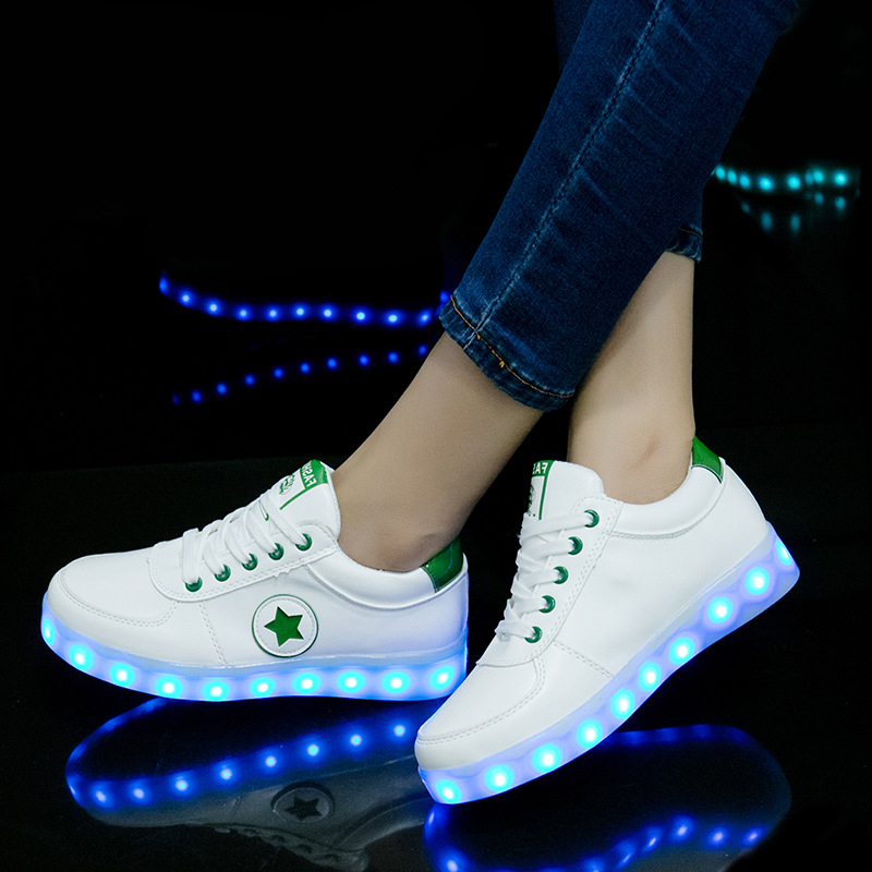 2019 Luminous Sneakers USB Charging Kids Flashing Shoes For Ghost Dance Led Glowing Sneakers Shoes For Boys Girls Light Up Shoes