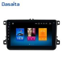 "Dasaita 8 ""Android 10 araba GPS radyo çalar VW Volkswagen Golf 5 6 Polo Passat Tiguan Jetta EOS Sharan amarok Scirocco Video"