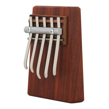 Nowy 5 klucz kciuk fortepian mahoń Kabalin drewno akacjowe Instrument muzyczny dla dzieci początkujących prezent przenośny kciuk fortepian KB35 tanie i dobre opinie Beginner Pianino
