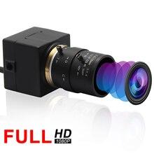 2,8-12-12mm Manual Zoom Varifocal 2MP Webcam USB MJPEG 100fps en 480P 60 fps en 720,30fps 1080P Mini caja Cmos cámara Usb HD 1080P
