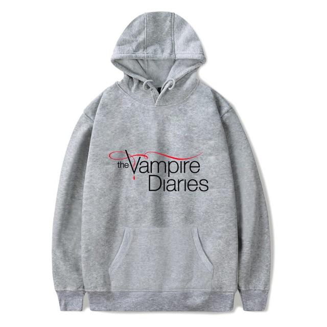The Vampire Diaries Hoodies women/mens Long Sleeve hodies Pullovers Sweatshirts hoodie Women Men Casual hooded clothes unisex 4