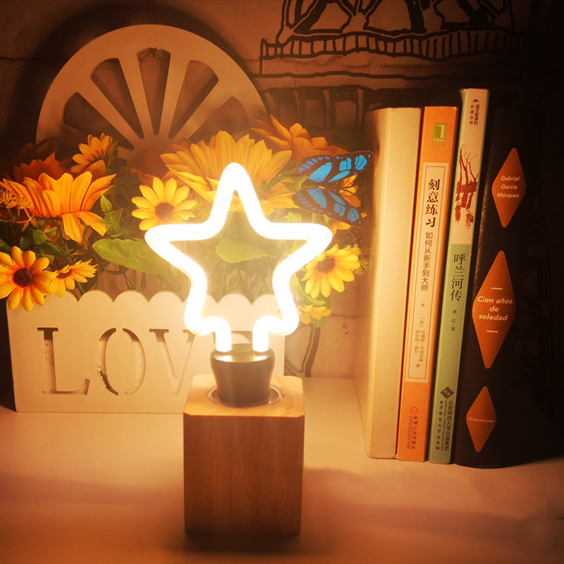 2019 New Colorful Night Light Butterfly Star Heart LED Lamp Christmas Light Creative LED Decorative Drop Shipping