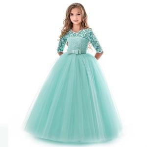 Image 2 - Summer Girls Princess Dress Teenage Children Long Evening Party Wedding Dress Kids Dresses For Girls 8 9 10 12 14 Year 40