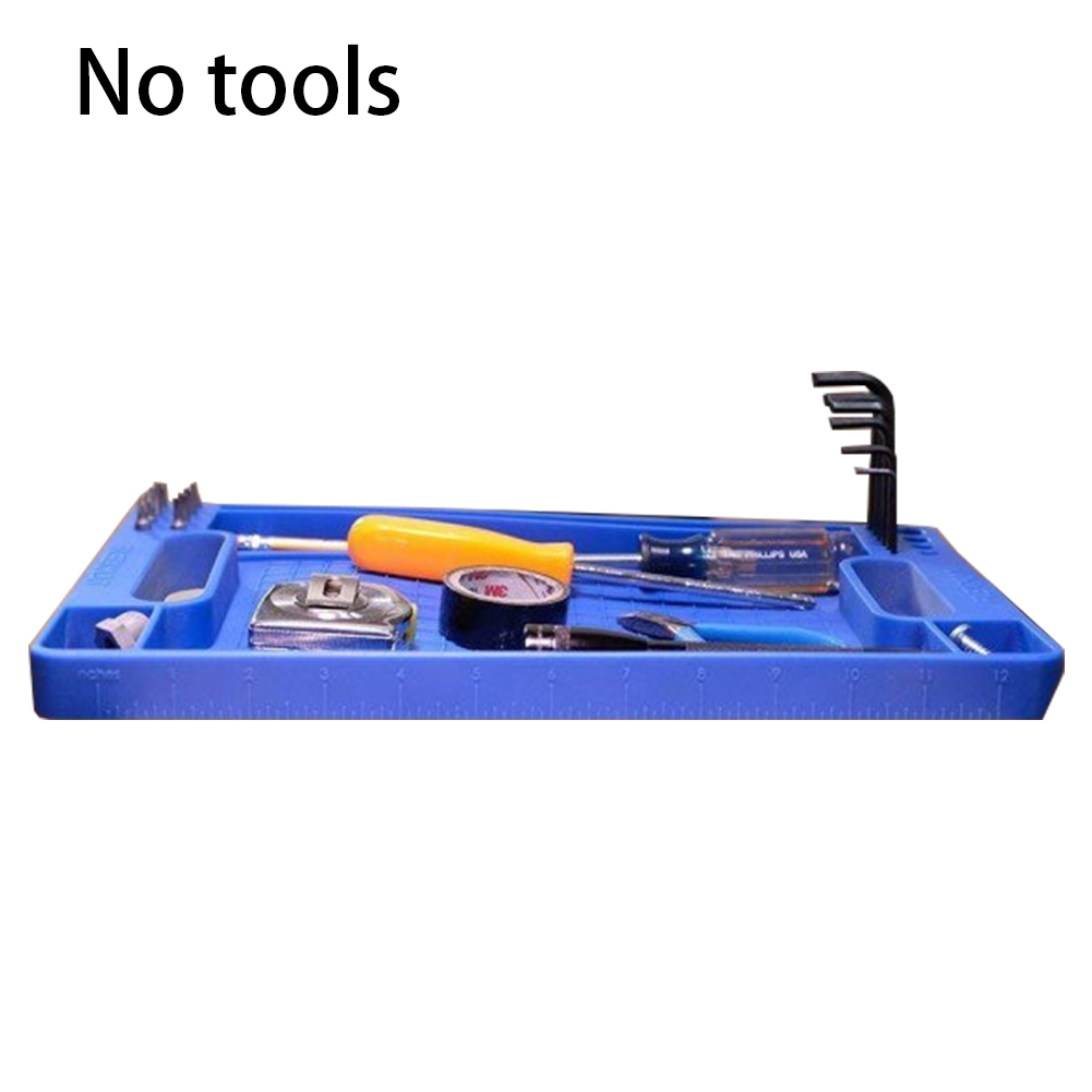 Non Slip Workshop Repair Plastic Easy Clean Strong Grips Storage Box Practical Flexible Accessories Durable Tool Tray Packaging