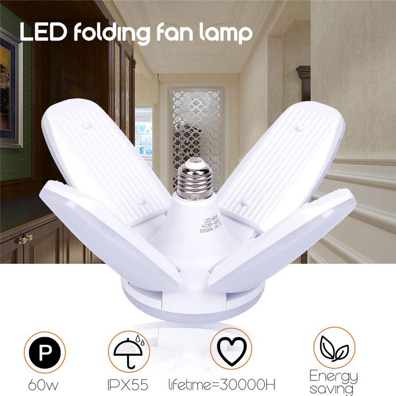 AC85-265V 60W Led Deformable Lamp E27 B22 For Workshop Industrial Illumination Garage Light Adjustable Ceiling Lamp Bright