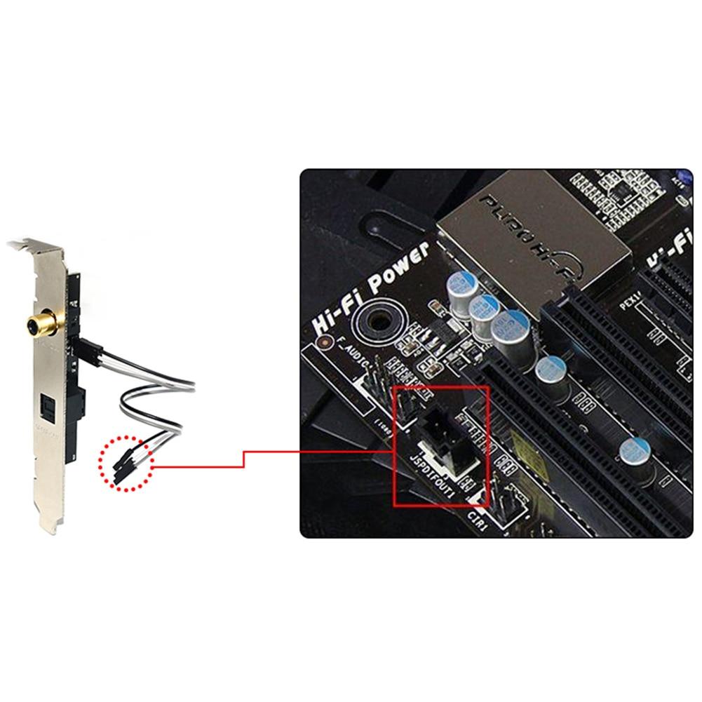 SPDIF RCA Out Plate Cable Bracket Motherboard Bracket For ASUS MSI ECS Gigabyte