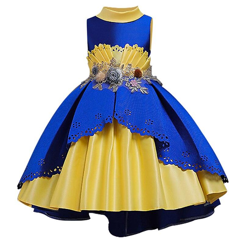 Платье подружки невесты с вышивкой и пайетками; платье принцессы с жемчужным шлейфом; первое платье с вышивкой для девочек; вечерние платья - Цвет: as picture