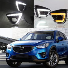 2PCs/set LED DRL Daylight lamp Daytime Running lights Fog Lamp Turn Signal lamp For MAZDA CX-5 CX5 CX 5 2012 2013 2014 2015 2016