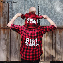 цена на Family Matching Clothes Mommy and Me Shirt Plaid Top Family Look Mother And Daughter Shirt Mom And Daughter Clothes C0566