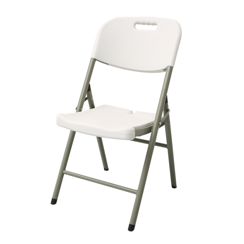 Folding Chair Simple Meeting Leisure Dining Chair Office Computer Backrest Chair Portable Plastic Stool Household Chair
