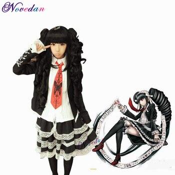 Anime Danganronpa Dangan Ronpa Celestia Ludenberg Cosplay Costume Fancy Japanese School Uniform Halloween Costumes Cosplay Wig недорого