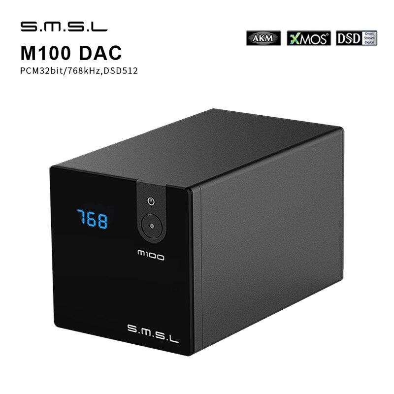 SMSL M100 Audio DAC USB AK4452 Hifi Dac Decoder DSD512 Spdif USB DAC Amp XMOS XU208 Digital Amplifier Optical Coaxial Input