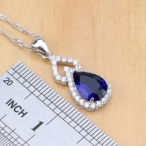 Image 3 - Ensembles de bijoux en Zircon blanc en argent Sterling 925, pour bagues de mariée, boucles doreilles, pendentif, collier, Bracelet