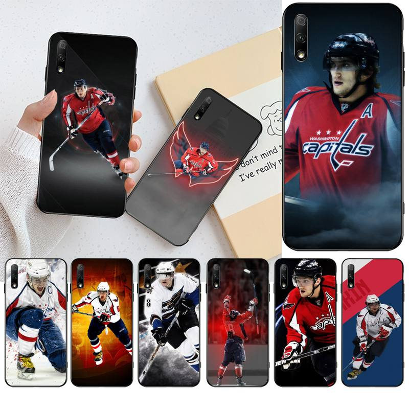 HPCHCJHM Alexander Ovechkin Nhl Star Hockey black Phone Case Cover Hull for Huawei Honor 20 10 9 8 8x 8c 9x 7c 7a Lite view pro(China)