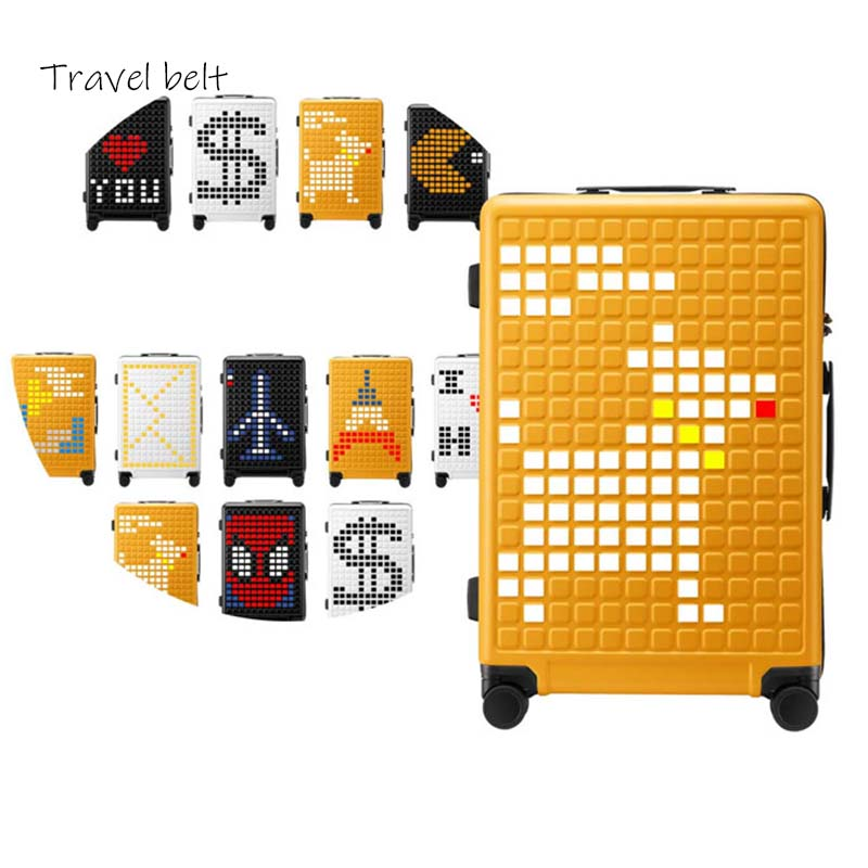 Travel Belt Creative 20/24/26 Inch Size Rolling Luggage Spinner Korean Version Suitcase Wheel Carry On Travel Bags