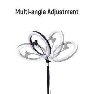 Image 5 - RGB קשת טבעת אור 33cm Dimmable Selfie מנורת עם חצובה Stand טלפון קליפ Bluetooth מרחוק עבור לחיות צילום תאורה ערכת