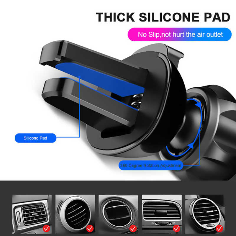 New Style Universal Car Phone Holder GPS Stand Gravity Stand For Phone Car Holder No Magnetic For iPhone X Xiaomi Huawei Support
