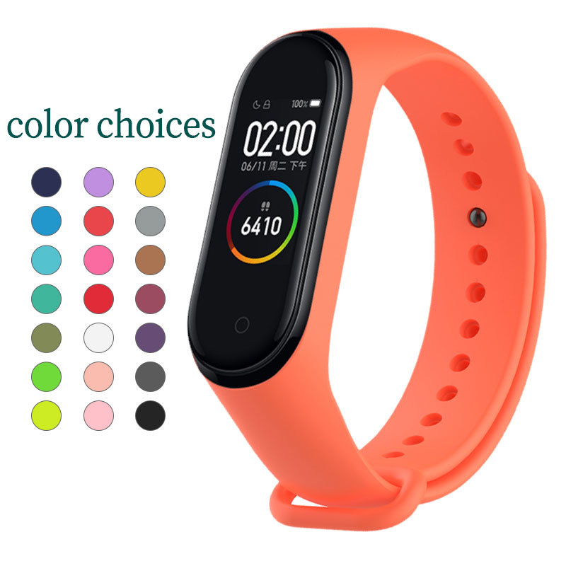 Silicone loop replaceable Bracelet for Xiaomi Mi band 4 Sports Wristband Breathable Strap for Miband 4 smart watch Accessories