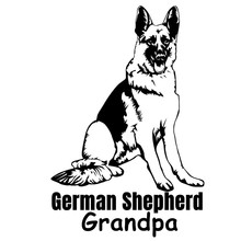 Car Sticker Reflective Waterproof Cool Waterproof Removable Decal Self-adhesive Auto Decal CK3368# German Shepherd Grandpa Vinyl 420 sticker decal self adhesive vinyl body decoration waterproof personality accessories car