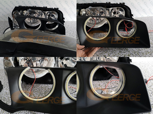 Image 3 - Excellent超高輝度cob ledエンジェル · アイズヘッドランプリング用カースタイリングbmw E83 X3 2003 2004 2005 2006 事前改築ヘッドライト