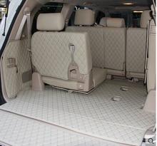 Samochód podróży marki specjalny bagażnik maty dla Toyota Land Cruiser 200 7 miejsc 2017 wodoodporne dywaniki samochodowe dla Toyota LC200 4 sezon