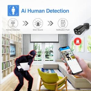 Image 4 - Techege 8CH 5MP POE AI système de caméra de sécurité CCTV Kit de détection de visage deux voies Audio caméra de Surveillance vidéo extérieure Kits P2P