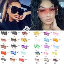 Toptan Shades siyah büyük boy kare güneş gözlüğü lüks 2020 popüler Retro büyük düz üst plastik erkek güneş gözlüğü toplu UV400