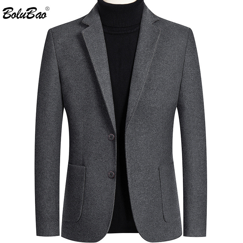 BOLUBAO Men Blazer Brand Lined Solid Color Men's Slim Fit Suit High Quality Lattice Korean Version Tuxedo Blazers Male 1