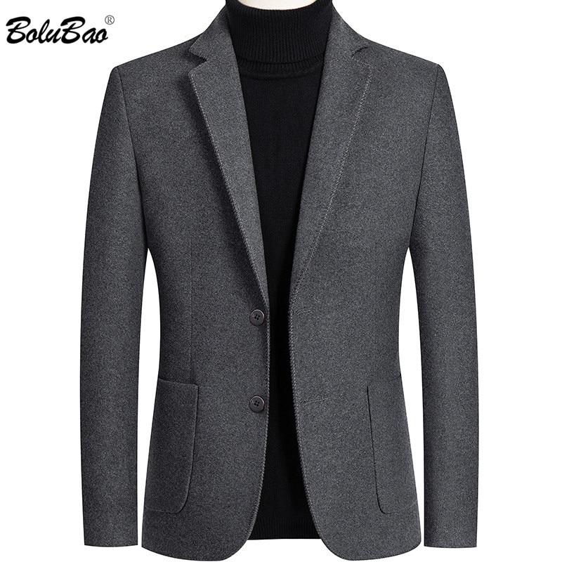 BOLUBAO Men Blazer Brand Lined Solid Color Men's Slim Fit Suit High Quality Lattice Korean Version Tuxedo Blazers Male 1