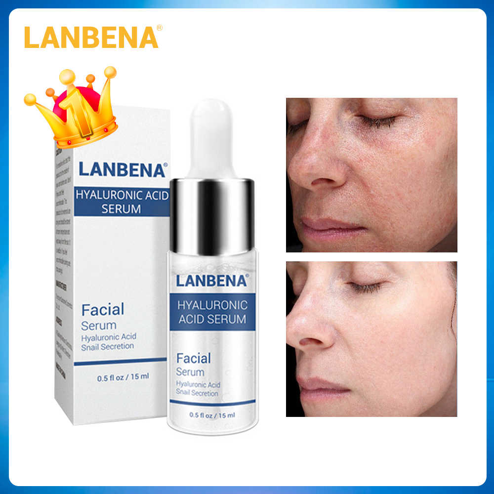 นาฬิกา LANBENA เซรั่ม Hyaluronic Acid Blackhead ลบ Moisturizer สิว Treatment Repair Whitening Anti-Aging Wrinkle Skin Care 15ml