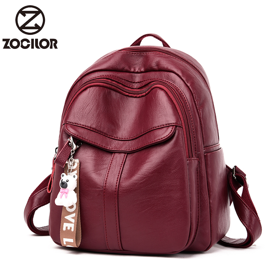 Luxury Famous Brand Designer Women Leather Backpack Female Casual Travel Bags Teenager School Bag High Capacity Women's Bags
