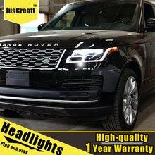 LED farlar Range Rover için LED Headlights14 17 LED gündüz farları dinamik sinyal bi xenon düşük/yüksek işın 1 çift