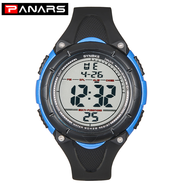 ПАНАРЫ Цифровые Часы Для Детей Водонепроницаемые Противоударные Мужчины Спорт Часы Тонкие Цифровые Наручные часы Мужские Xfcs Электронные Часы