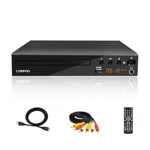 Image 1 - LONPOO הכי חדש נגן DVD נייד USB 2.0 DVD נגן מולטימדיה דיגיטלי DVD טלוויזיה תמיכה HDMI פונקציה שחור