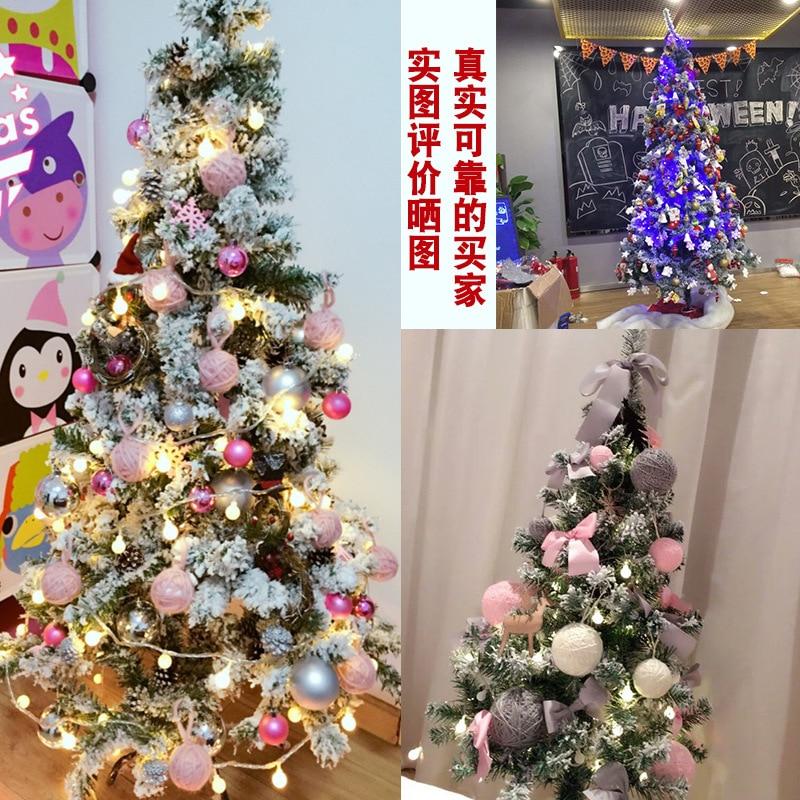 Christmas White Combo Cedar 1.51.82.12. 4 M 3 M Snow Flocked Christmas Tree Model Decoration