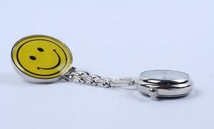 Round smiley nurse watch silicone nurse cute quartz watch practical and convenient carrying pocket watch