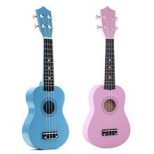 2 шт. 21 дюймов сопрано Гавайские гитары укулеле 4 струны Гавайская гитара Уке+ струна+ палочки для начинающих ребенок подарок(светильник синий и розовый