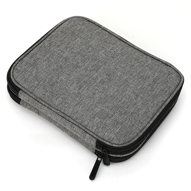 AUAU-Travel Organizer Zipper Bag For Various Crochet Hooks, Interchangeable Circular Knitting Needles And Other Accessories (NO